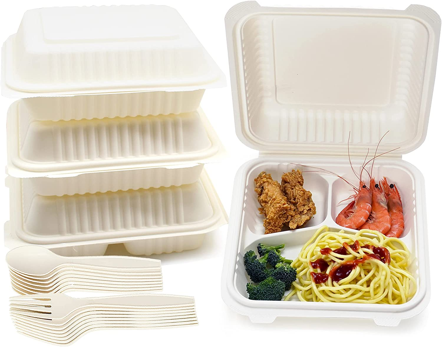One-time Three-Part Lunch Box Set 8