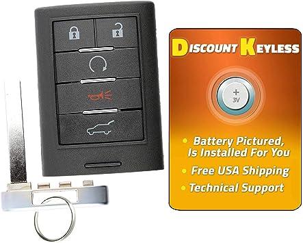 Keyless Remote Key Fob for 2010 2011 2012 2013 2014 2015 Cadillac SRX NBG009768T