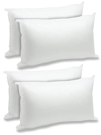 Amazon.com: Almohada de poliéster blanco de 12.0 x 20.0 in ...