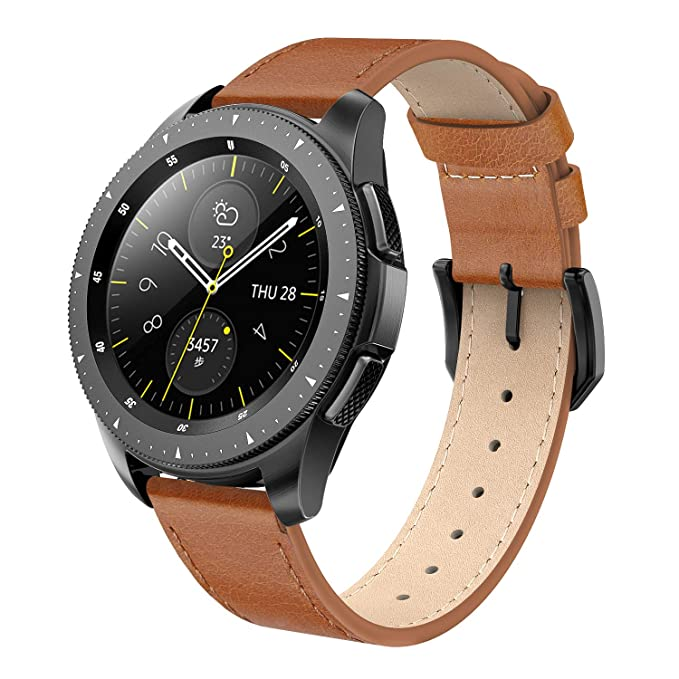 SWEES - Correa de Piel Compatible con Reloj Galaxy de 42 mm ...