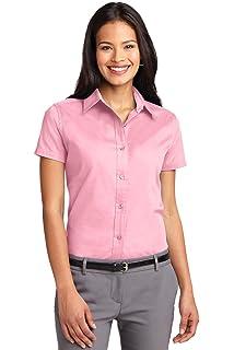 49ddf958 Port Authority Women's Short Sleeve Easy Care Shirt at Amazon ...