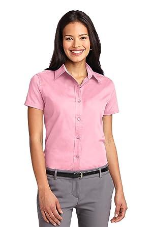 b4eae041c Port Authority Women's Short Sleeve Easy Care Shirt 4XL Light Pink