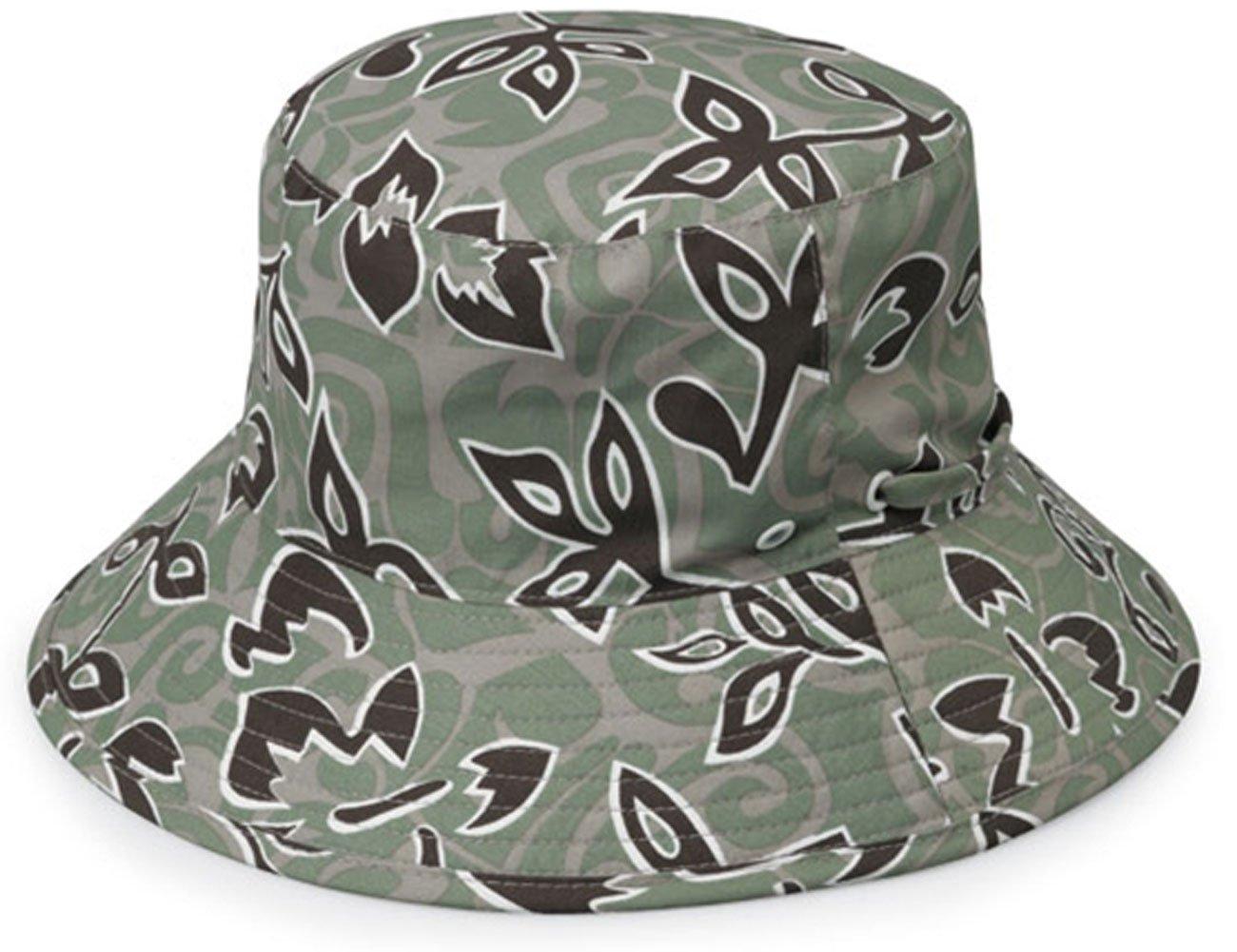 wallaroo Children's Surf Sun Hat - UPF 50+ - Reversible, Green Print