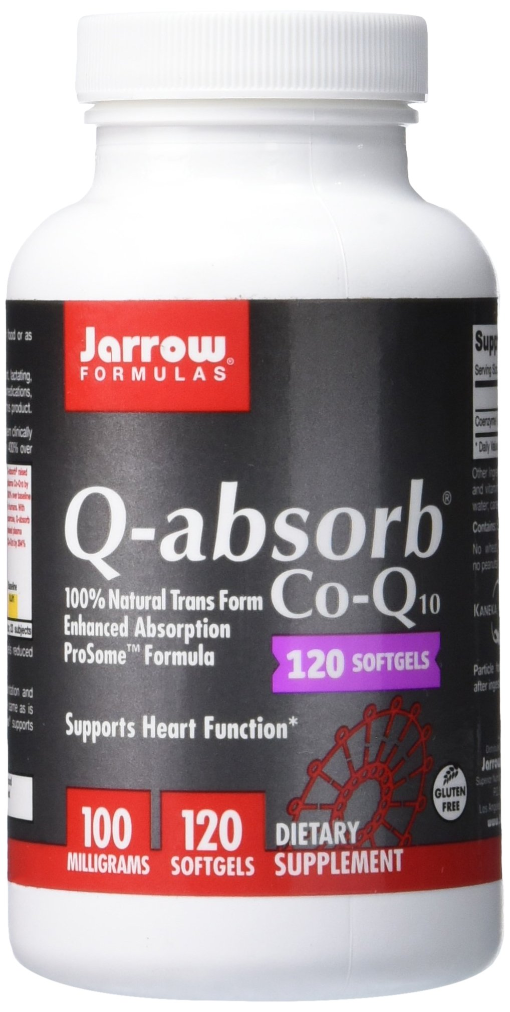 Jarrow Formulas Q-Absorb®, Supports Heart Function*, 100 mg, 120 Softgels