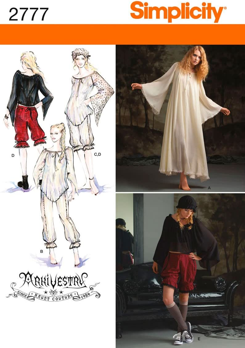 22/Schnittmuster 2777/Misses Costumes 20 16 18 Simplicity R5/14