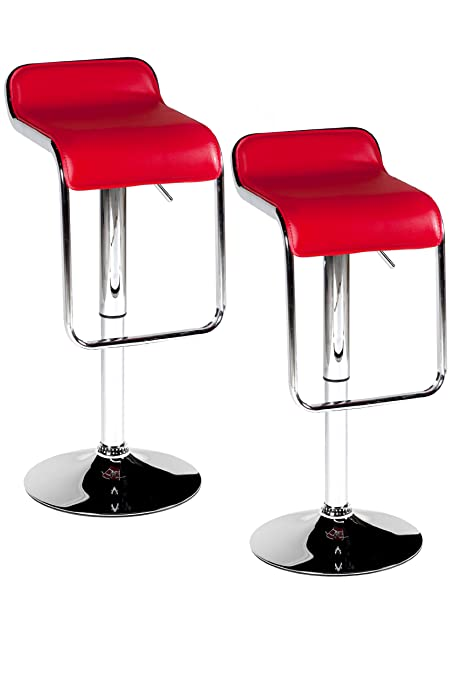 Pleasing Amazon Com Pangea Home Milo Faux Leather Bar Stool Red Alphanode Cool Chair Designs And Ideas Alphanodeonline