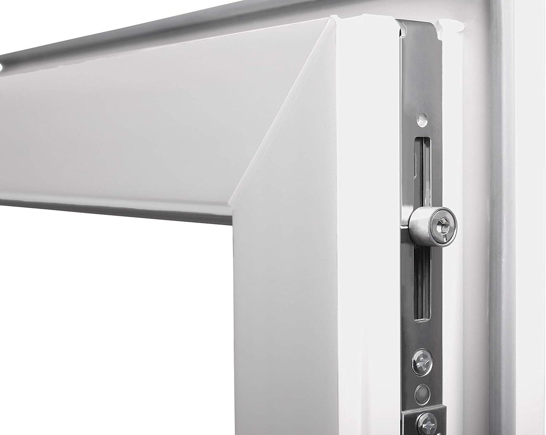 Premium Fenster Kellerfenster Kunststofffenster Breite: 65 cm 2 fach Verglasung Alle Gr/ö/ßen Dreh Kipp Wei/ß BxH: 65x100 cm DIN Rechts