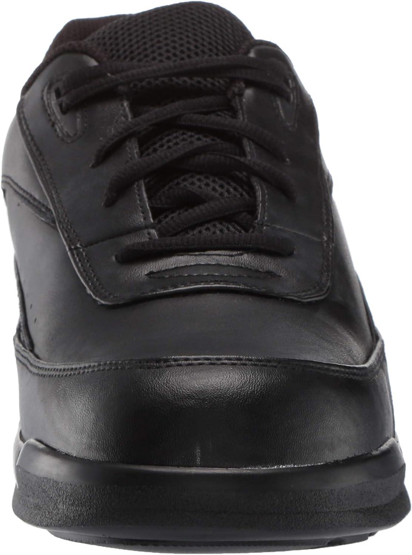 Apex Men's Active Walker Lace-Biomechanical White Sneaker Black
