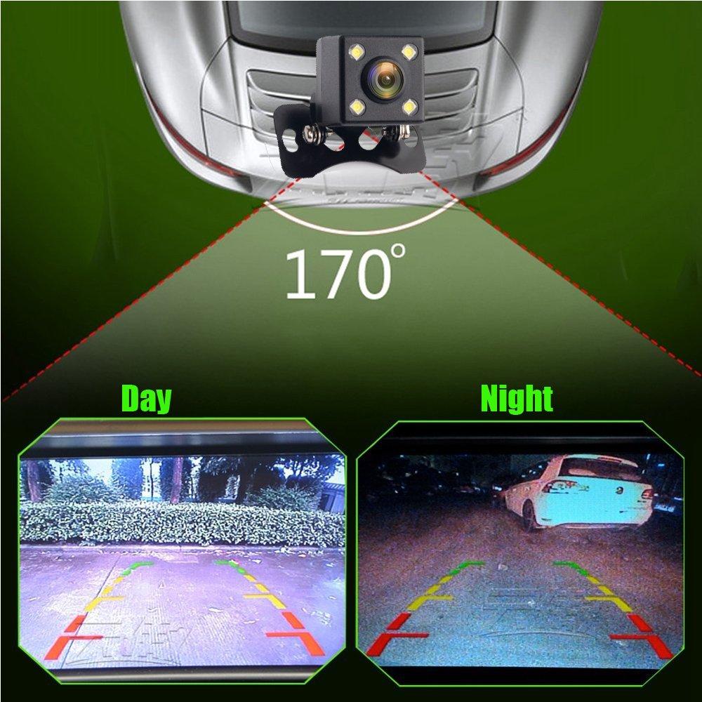 Camecho Car Rear hidden View Camera 4 Led high HD Night Vision IP68 Waterproof 170 Degree Viewing Angle Parking Camera