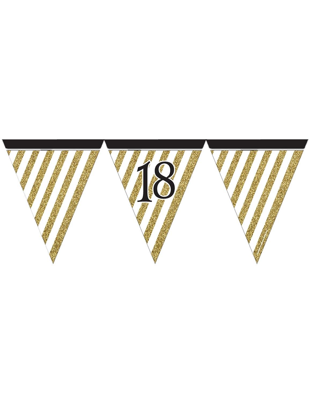 COOLMP - Lote de 12 guirnaldas de banderines Negros y ...