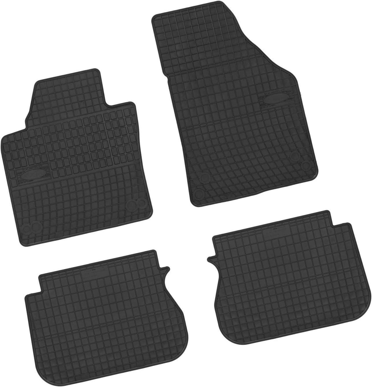 Bär Afc Vw04074 Gummimatten Auto Fußmatten Schwarz Erhöhter Rand Set 4 Teilig Passgenau Für Modell Siehe Details Auto