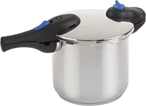 Wearever 8-Quart Stainless-Steel Pressure Cooker with Locking Lid