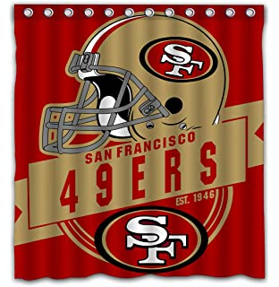 Felikey Custom San Francisco 49ers Waterproof Shower Curtain Colorful Bathroom Decor Size 66x72 Inches