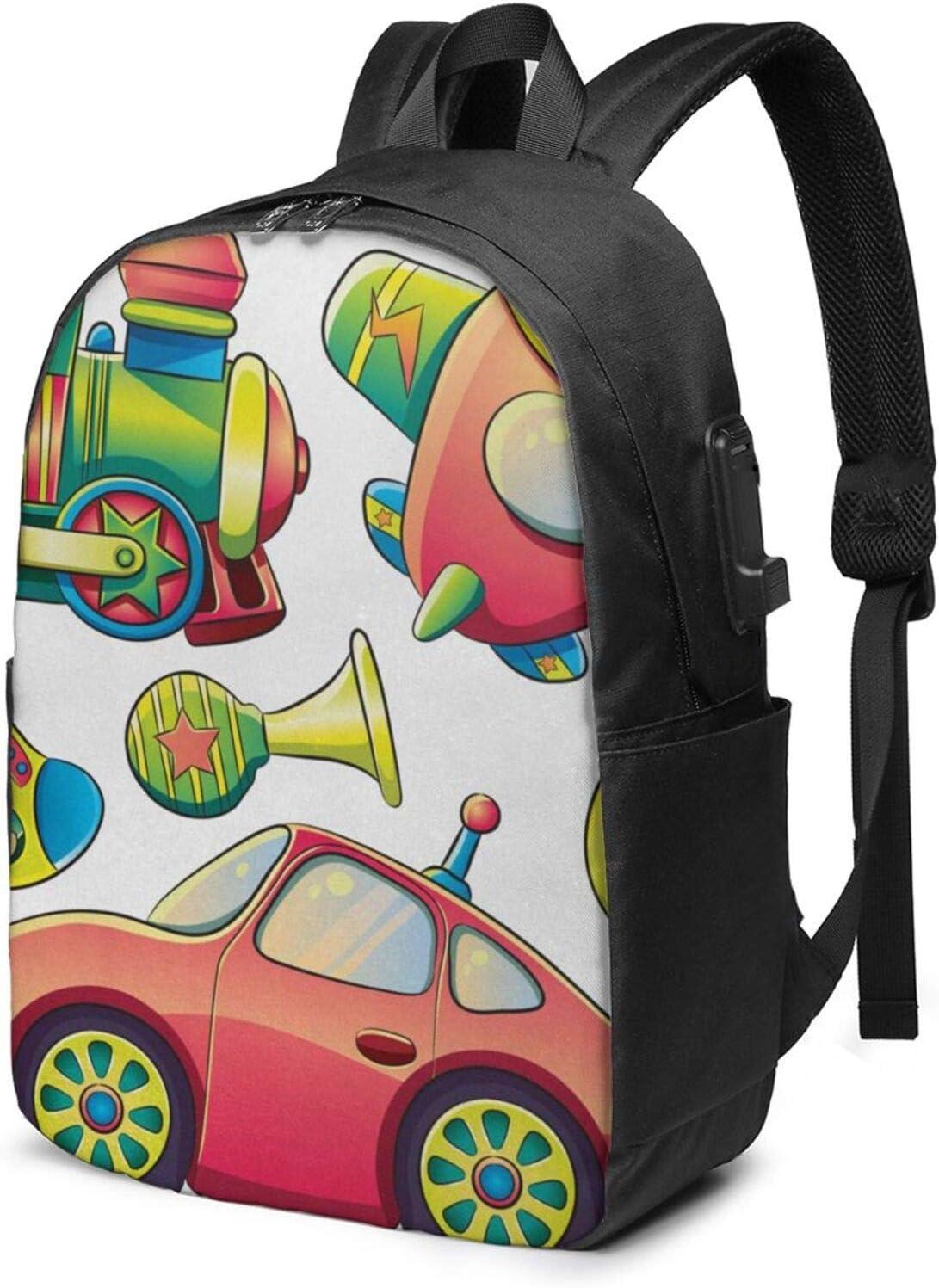 WEQDUJG Mochila Portatil 17 Pulgadas Mochila Hombre Mujer con Puerto USB, Desierto de Bolas Mochila para El Laptop para Ordenador del Trabajo Viaje