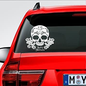 SUGAR SKULL DAY OF THE DEAD DECAL STICKER 3M USA TRUCK CAR VEHICLE WINDOW WALL