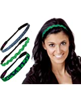 Hipsy Assorted Irish Green St. Patrick's Day Clover Headband Gift Packs
