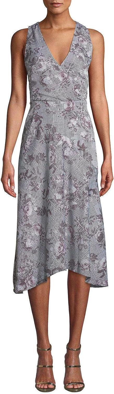 B07VG9XF9F RACHEL Rachel Roy Women's Giles Sleeveless Printed Dress, Grey Combo (4) 718L93rsdTL