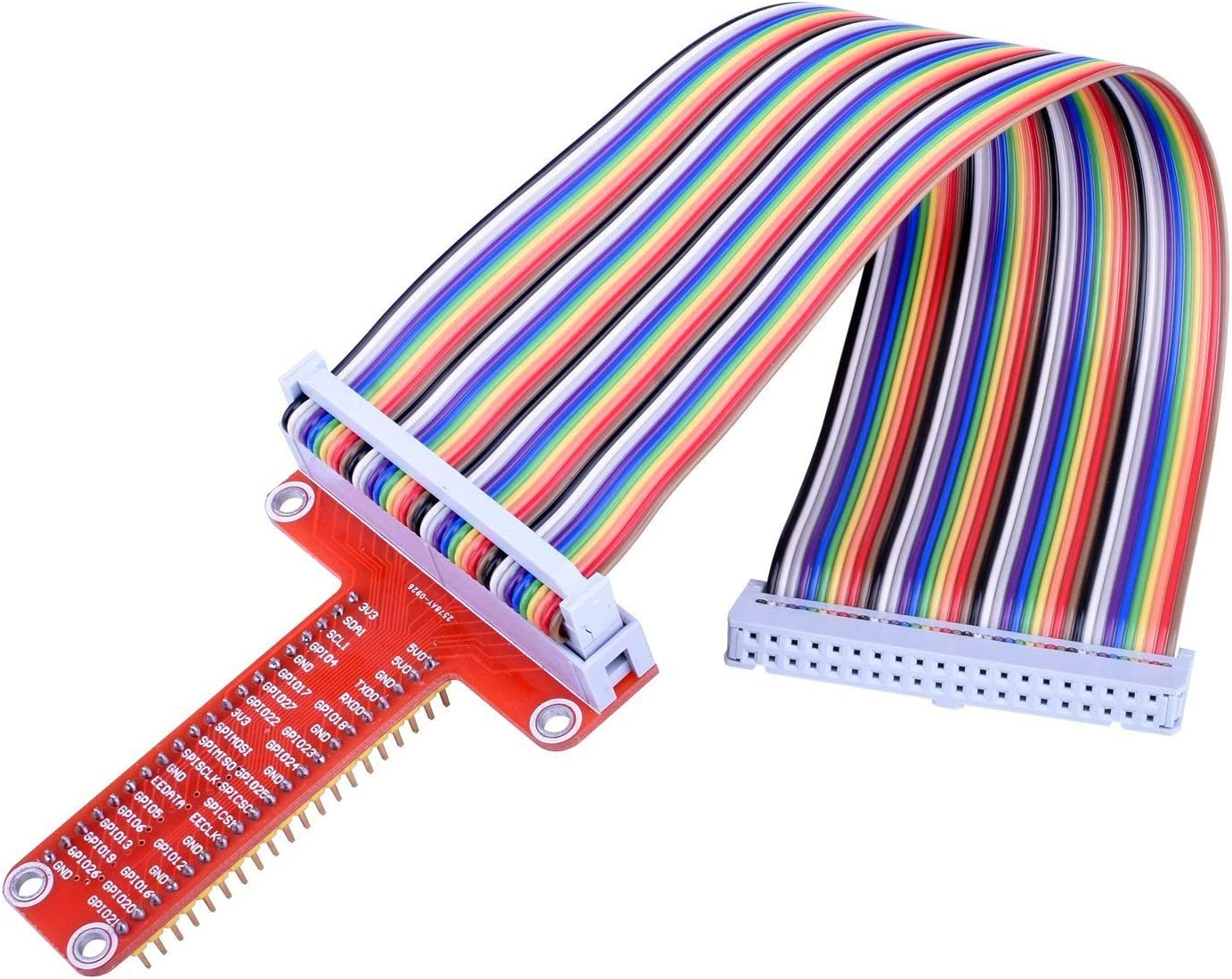 Assembled T Type GPIO Adapter 20cm FC40 40pin Flat Ribbon Cable for Raspberry BoMiVa Ribbon Cable RPi GPIO Breakout Expansion Board