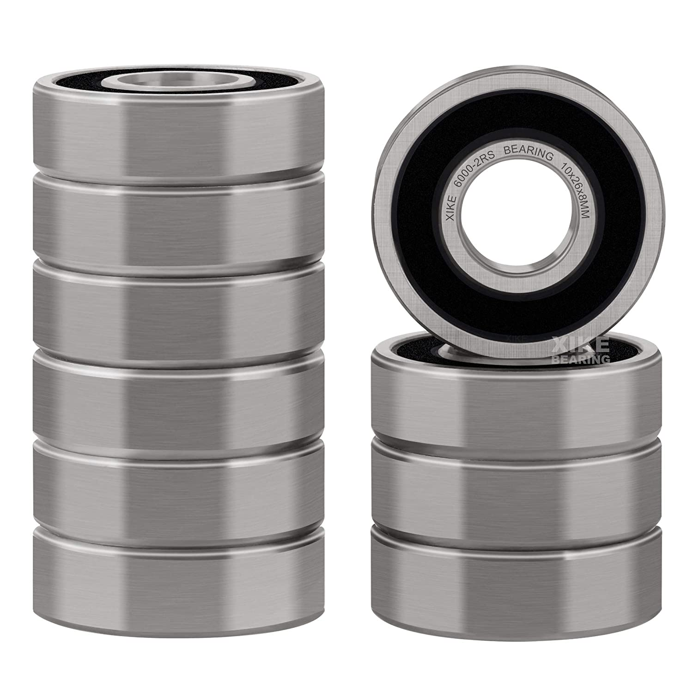 10 x 26 x 8mm 10 PCS BLACK Rubber Sealed Precision Ball Bearing 6000-2RS