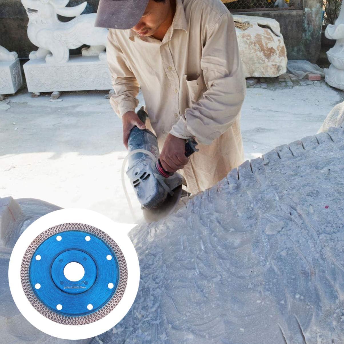 ULTECHNOVO Cuchilla de Corte de Baldosas Cuchilla de Diamante de Porcelana 115Mm Disco de Corte de Cer/ámica Muela de Granito Amoladora Angular de Cer/ámica Azul