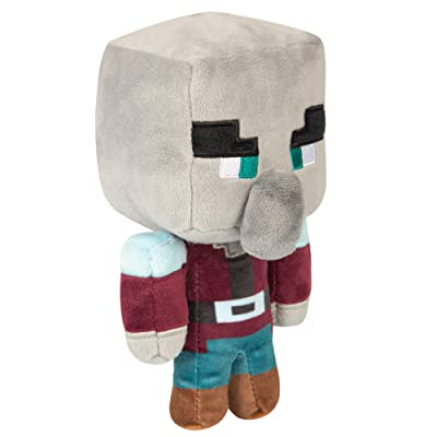 "JINX Minecraft Happy Explorer Pillager Plush Stuffed Toy, Black, 7"" Tall: Toys & Games"