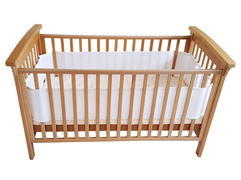 Doppelschichten f/ür zus/ätzliche Polsterung Airoya/® Premium 4-seitiger atmungsaktiver Kinderbett-Sto/ßf/änger Sicherheitspr/üfung nach Gro/ßbritannien und der EU BS EN 16780 frei von Verwicklungsrisiken