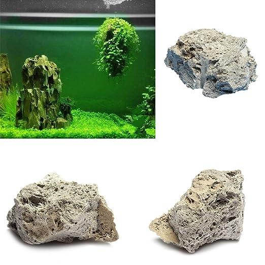 Hinmay Piedra pómez decorativa para acuario, diseño de roca y pómez natural, 9-15cm: Amazon.es: Deportes y aire libre