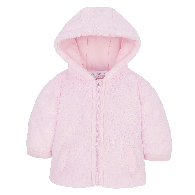 Metzuyan Unisex Baby Fluffy Winter Coat with Hood & Zip