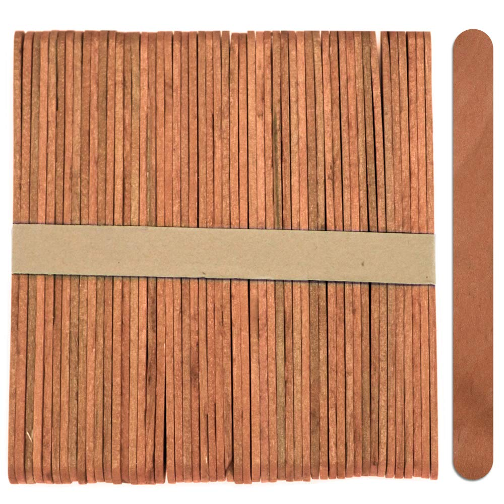50 Sticks Wood Craft Popsicle Sticks 4.5 Inch Black