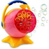 Bubble Machine for Kids, Automatic Bubble Blower Maker with USB Charger Cable for Birthday Party, Wedding, Garden and Outdoor Playing Games by DECEYO, Pink