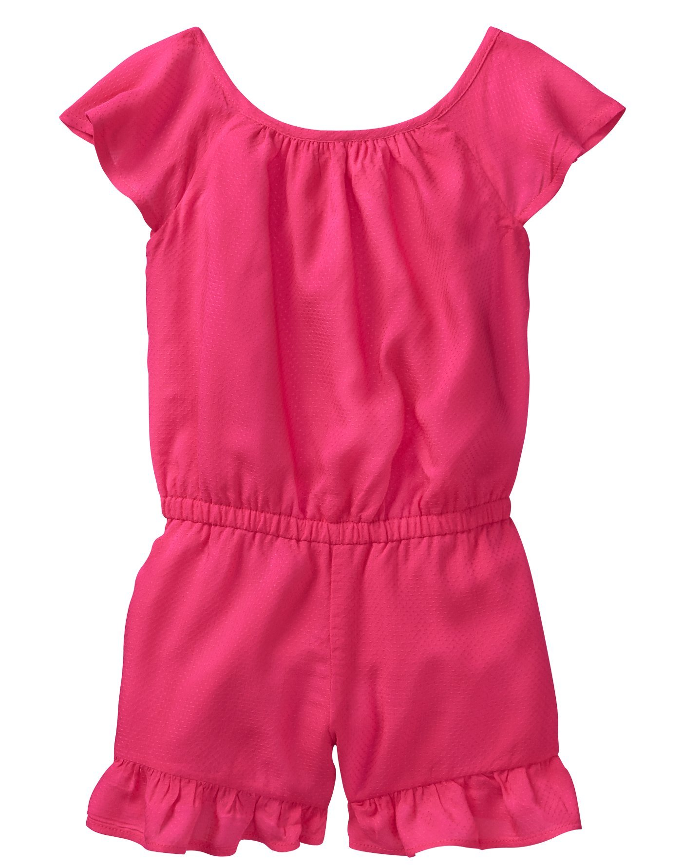 Crazy 8 Toddler Girls' Ruffle Romper, Bright Rose, 4T by Crazy 8