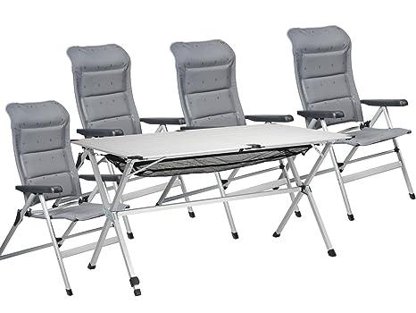 Tlg jet line gruppo di sedie per giardino e campeggio tavolo