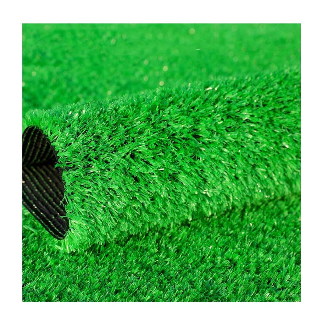 YNFNGXU 人工の人工芝の芝生15mmの山の高さ、暗号化された偽の芝生の自然な現実的な庭の植物の壁の背景の装飾(2mx1m) (色 : ライトグリーン, サイズ さいず : 1x9m) B07S3QVL3K ライトグリーン 1x9m