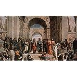 Raphael School of Athens Italian Renaissance Fresco Art Print Poster 46x30 cm