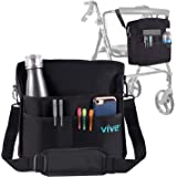 Vive Rollator Bag - Universal Travel Tote for Carrying Accessories on Wheelchair, Rolling Walkers & Transport Chairs…