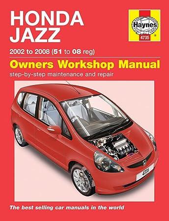 honda jazz repair manual haynes manual service manual workshop rh amazon co uk 2008 Honda Fit honda jazz 250 service manual pdf