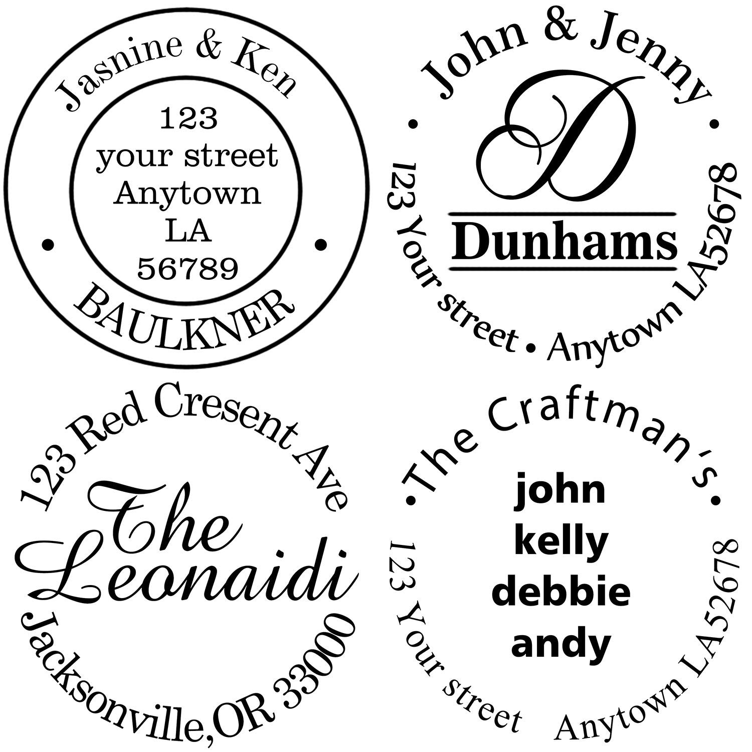 Custom Rubber Stamps Self Inking Stamps Personalized