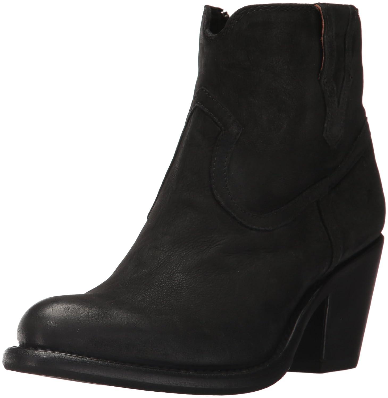 FRYE Women's Lillian Western Bootie Boot B01MT27GIX 8 B(M) US|Black Nubuck