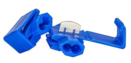 Blue solderless quick splice snap wire connector 18 through 14 blue solderless quick splice snap wire connector 18 through 14 gauge pack of 50 keyboard keysfo Images