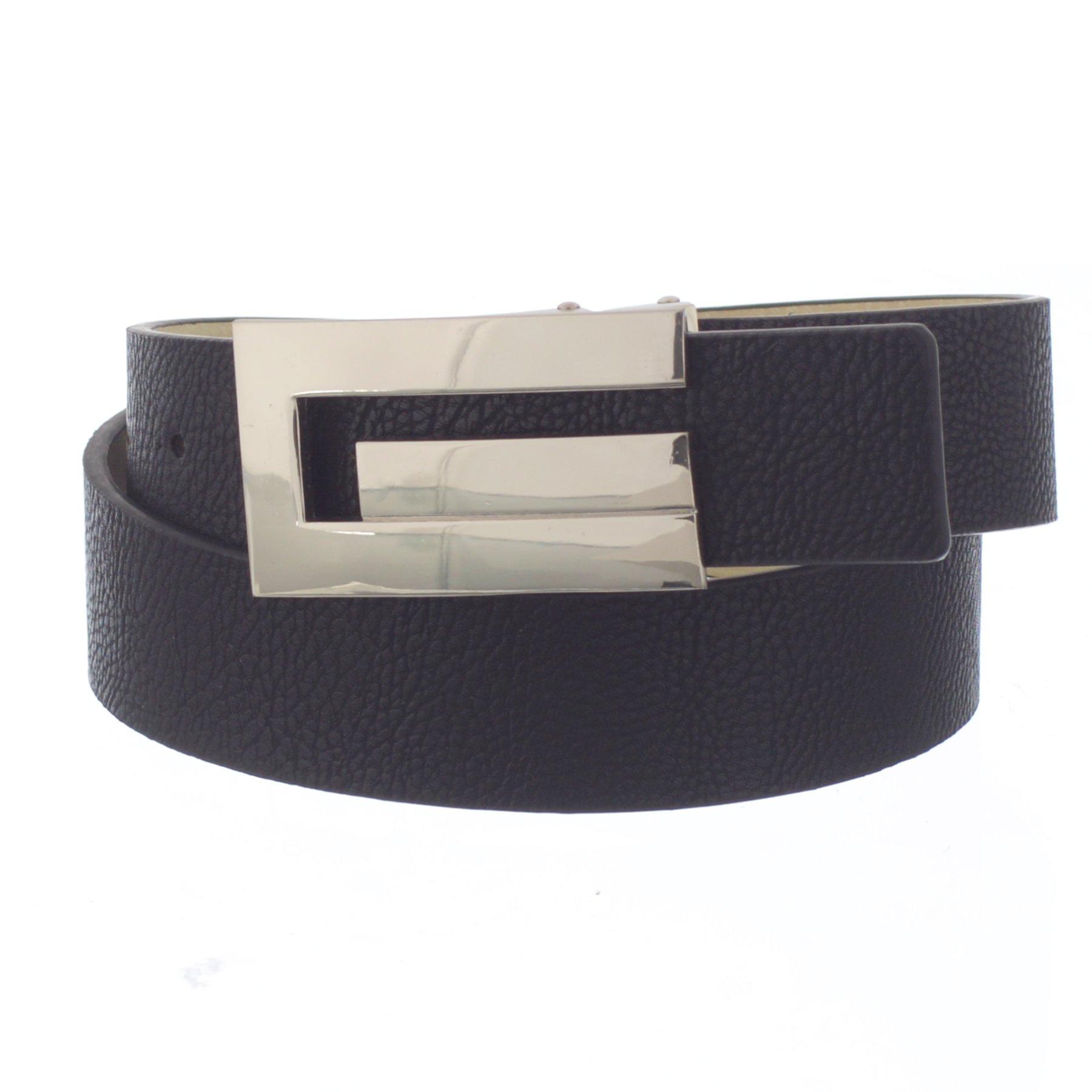 Xcessoire Boys School Uniform Belt with G styled Buckle (Black, 14)