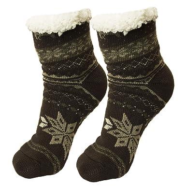 Ferocity Hombre Calcetines térmicos ricos en algodón para resbalón para el invierno Modelo 3 [033]: Amazon.es: Ropa y accesorios