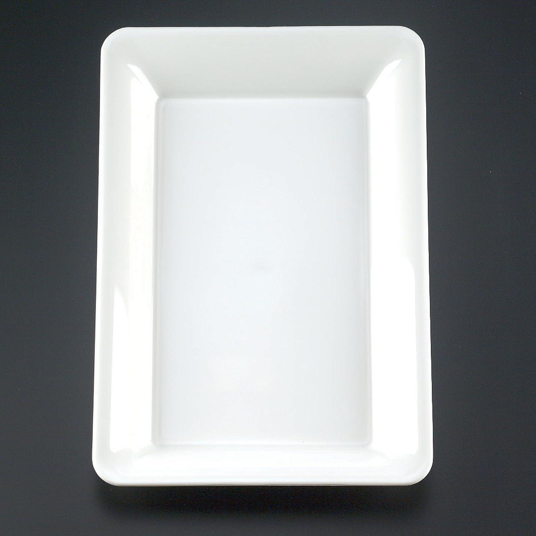 EMI Yoshi Koyal Rectangle Trays White 10 by 14-Inch Set of 25 EMI-1014W