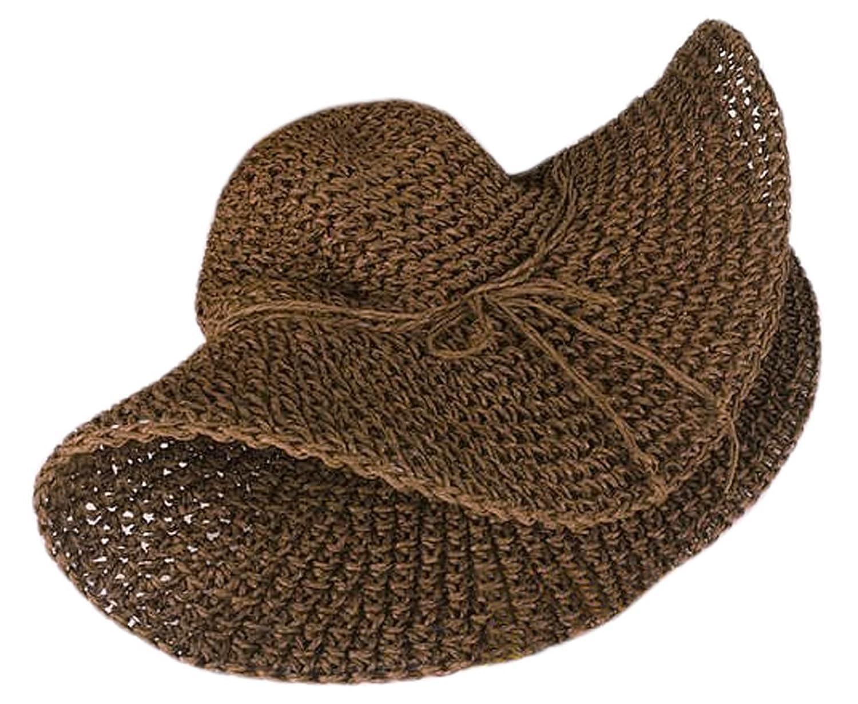 Onwon Large Wide Brim Floppy Fold Swimming Beach Retro Women Straw Sun Hat