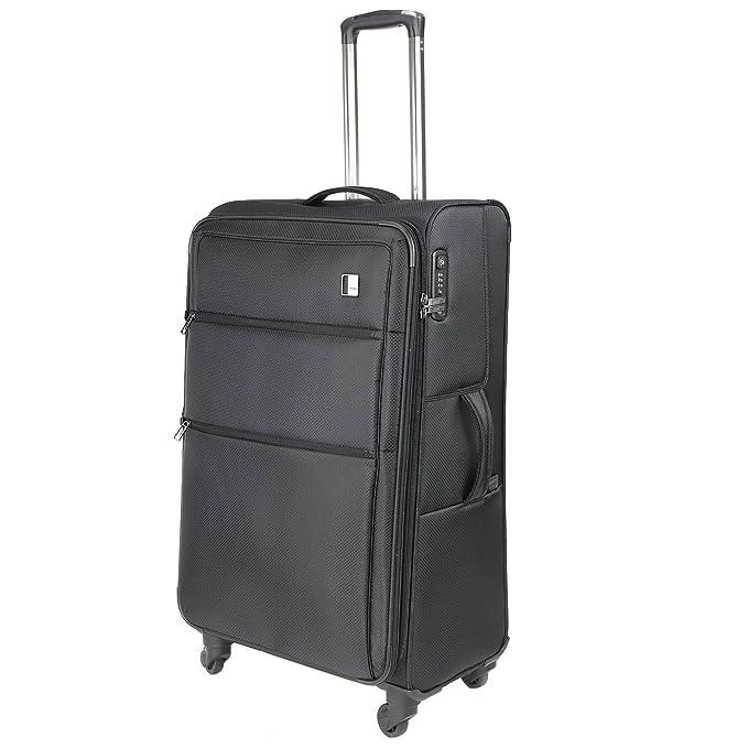 TITAN CLOUD 4w trolley L, expandable, Black, 378404-01 Bagage cabine, 79 cm, 112 liters, Noir (Black)