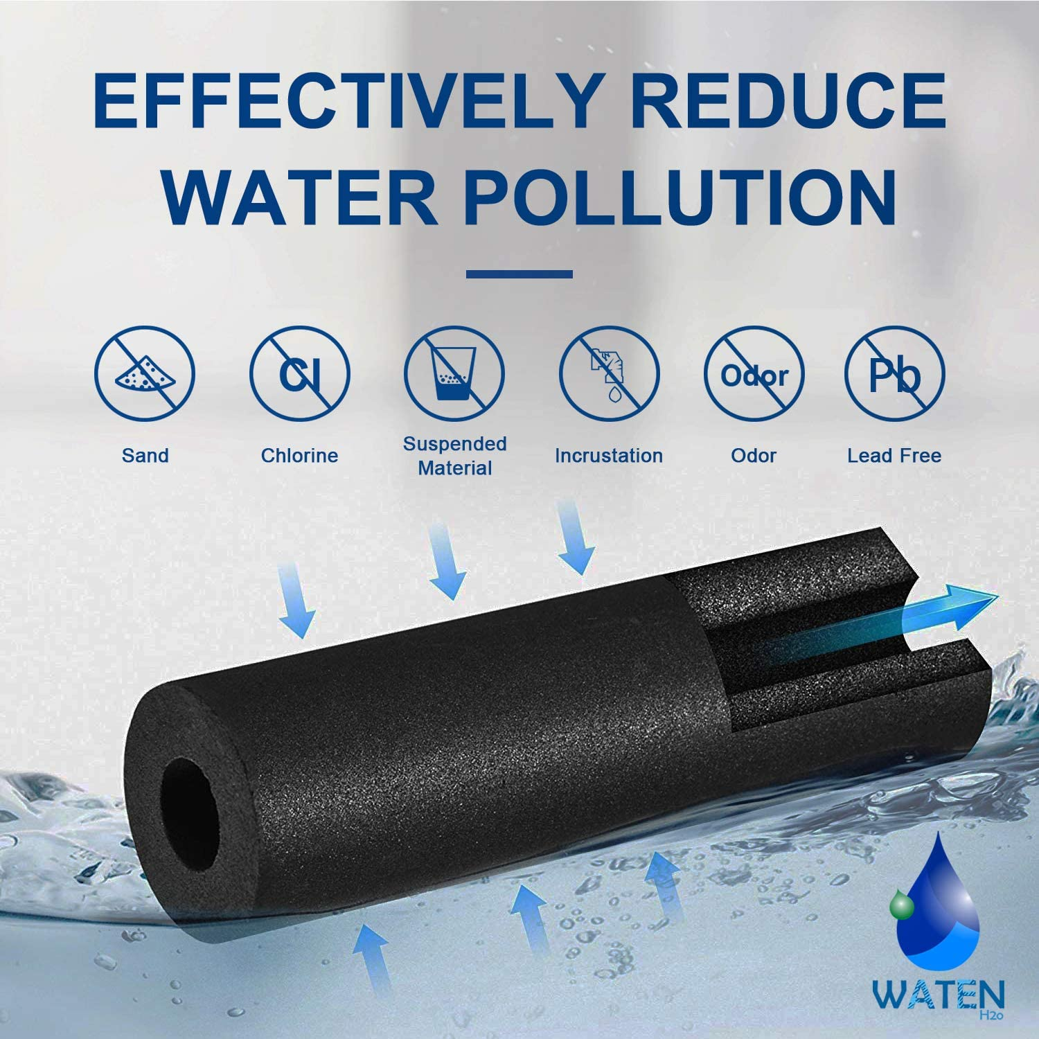 WATEN H2O W10295370a Water Filter Cap Replacement Compatible with EDR1RXD1 W10295370a Filter 1,Kenmore 46-9081 46-9930 Water Filters 3PACKS