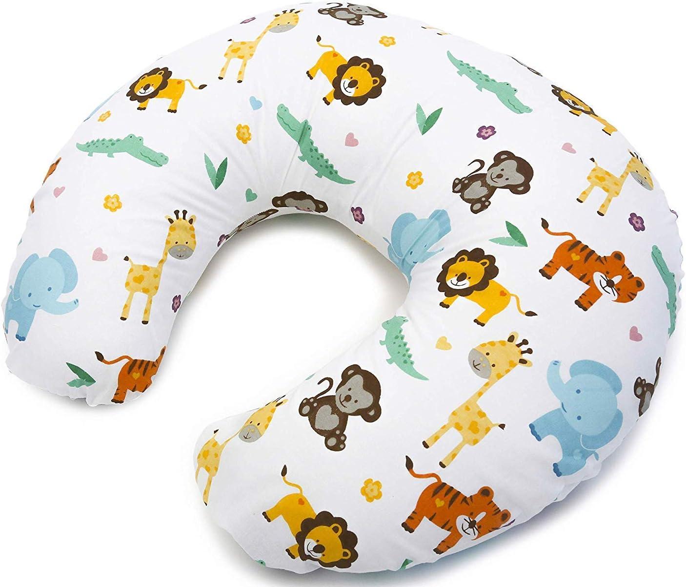 Niimo Cuscino allattamento Neonato + Federa 100% Cotone Sfoderabile e Lavabile con...
