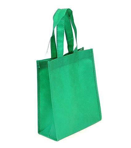 10 Pack Non-woven Reusable Tote Bags, Heavy Duty Non-woven Polypropylene, Small Gift Tote Bag, Book Bag, Non Woven Bag Multipurpose Art Craft Screen ...