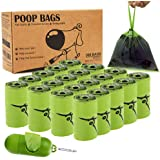 Dog Poop Bags with Handles - 300 Count Pet Waste Bag with Dispenser, 20 Rolls