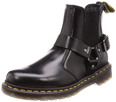 21292462a19 Amazon.com | Dr. Martens Men's Wincox Chelsea Boots, Black Polished ...