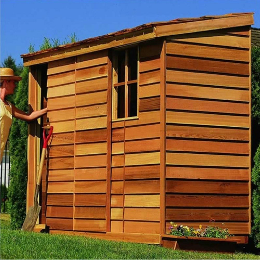 Amazon Com Cedar Shed X Ft Yardsaver Storage Shed Patio